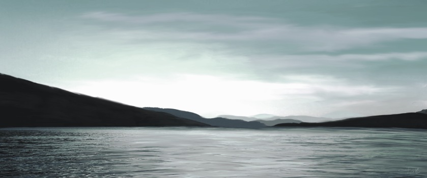 Cultus Lake Panorama Teal