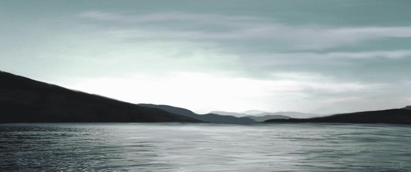 Cultus Lake Panorama Teal