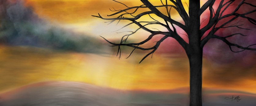 Yellow Skies - Comes on panorama canvas sizes.